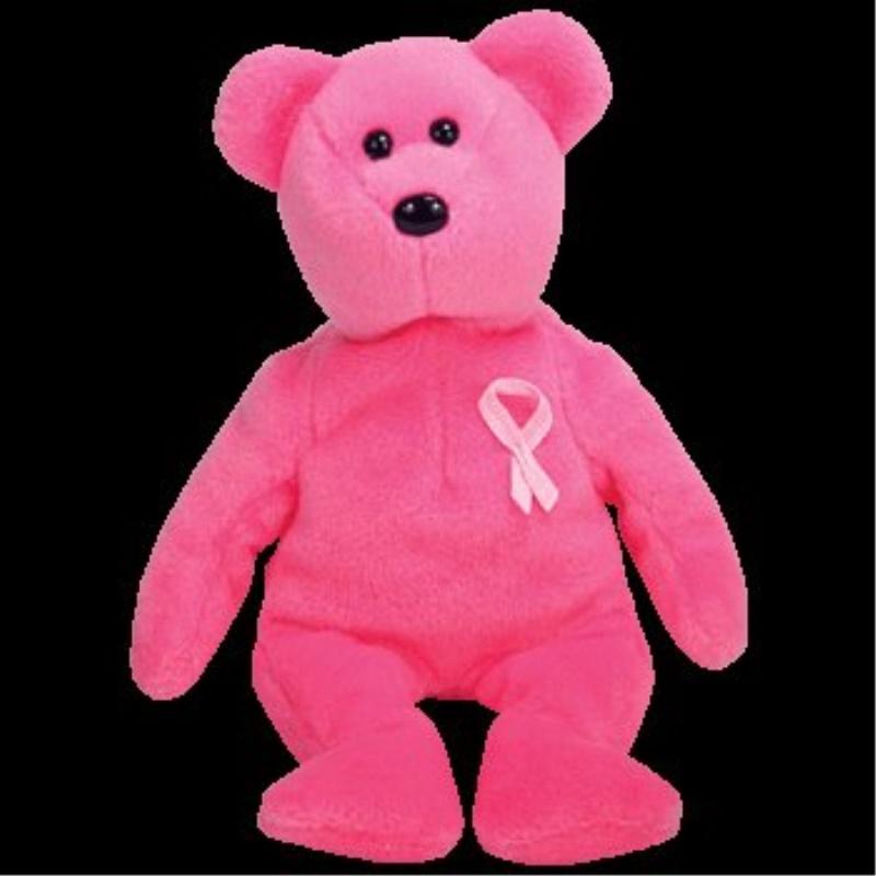 926ae4d89b3 Ty Beanie Baby Aware Bear Breast Cancer Awareness Pink Ribbon Teddy