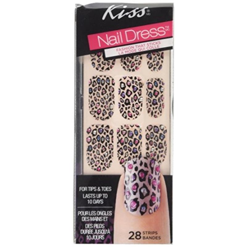 Kiss Nail Fashion Strips, 28 Piece