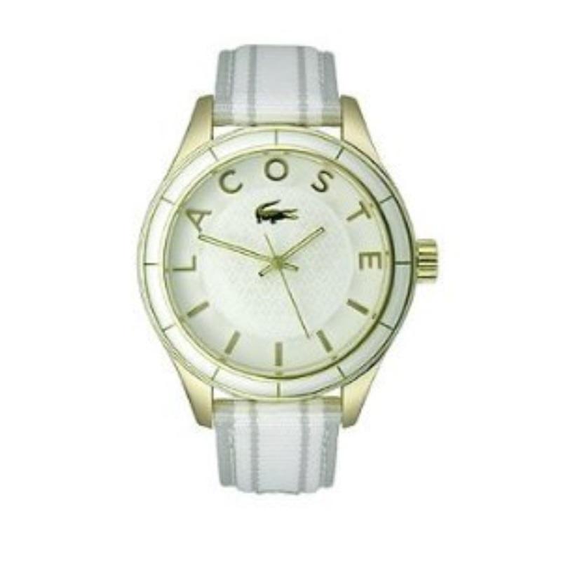 Lacoste Sydney White Grey Grosgrain Women s watch 2000771 1cf043b30d4