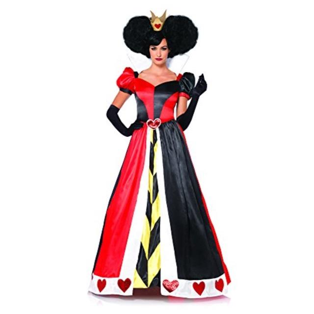 2cee2802cd72a Leg Avenue Women's Disney 2 Piece Queen Of Hearts, BlackRed, Medium