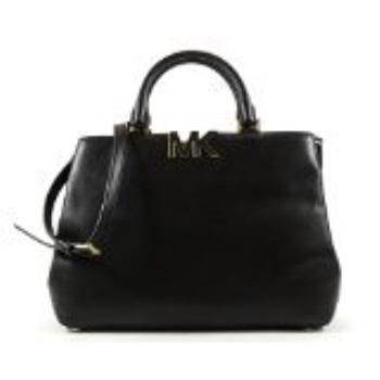 98488eb83e5184 Michael Kors Michael Florence Large Satchel Black Leather