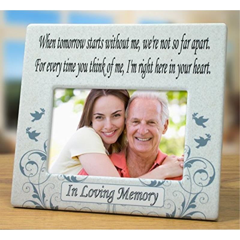 Banberry Designs When Tomorrow Starts Without Me Ceramic Memorial - Ceramic memorial photos