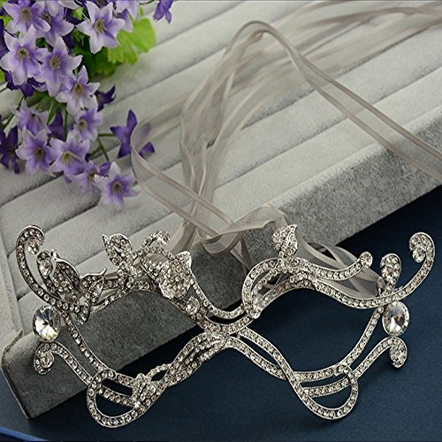 029b20f708491 Bella-Vogue -Alloy rhinestone Eye Mask Fancy style prom Fancy Dress  Accessory for Masquerade Party-NO.424