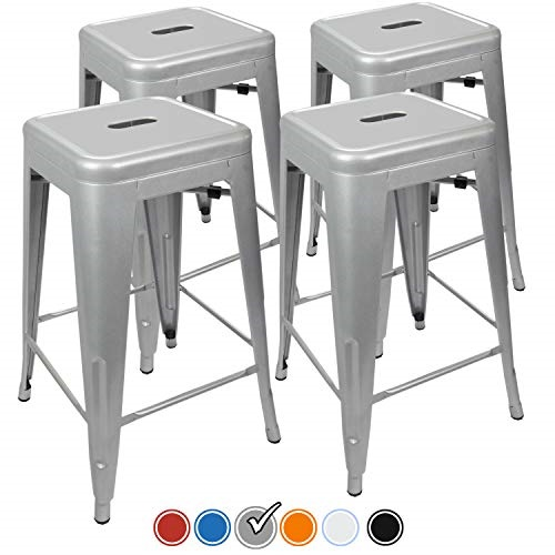 Peachy Urbanmod 24 Counter Height Bar Stools 330Lb Capacity Gray Squirreltailoven Fun Painted Chair Ideas Images Squirreltailovenorg