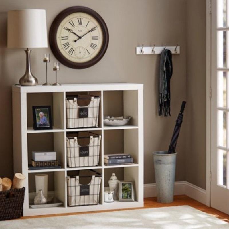 Better Homes Gardens 9 Cube Organizer Storage Bookcase Bookshelf Cabinet Divider Multiple Colors White
