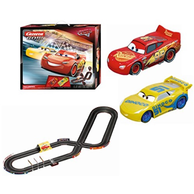 Carrera Motorsports Go 62419 Disney Pixar Cars 3 Fast Friends Slot Race Track Set