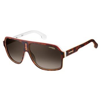 21a35ee882d2 Carrera Carrera Men's 1001/s Polarized Aviator Sunglasses, Havana White, 62  mm