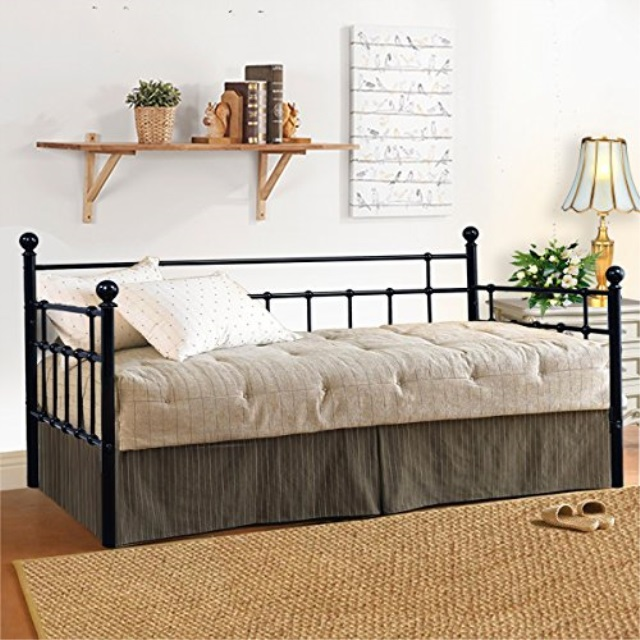 ea1831a4ff917 HomeRecommend Metal Daybed Frame Twin Steel Slats Platform Base Box Spring  Replacement Children Bed Sofa for
