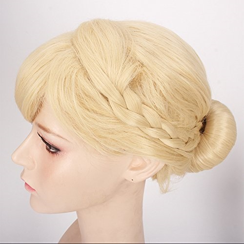 ThinkMax Womens Cute Cosplay Wig Braids Updo Style Blonde 491c36b283b1