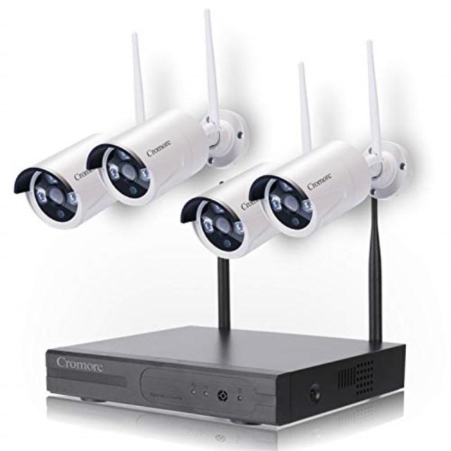 2d4ec57e410 Cromorc Wireless Security Camera System WiFi NVR Kit CCTV 4CH 1080P NVR  4pcs 960P Indoor Outdoor