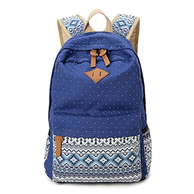 1c23e705f24d LIZAIDA MENENDEZ Geometry Dot Casual Canvas Backpack bag