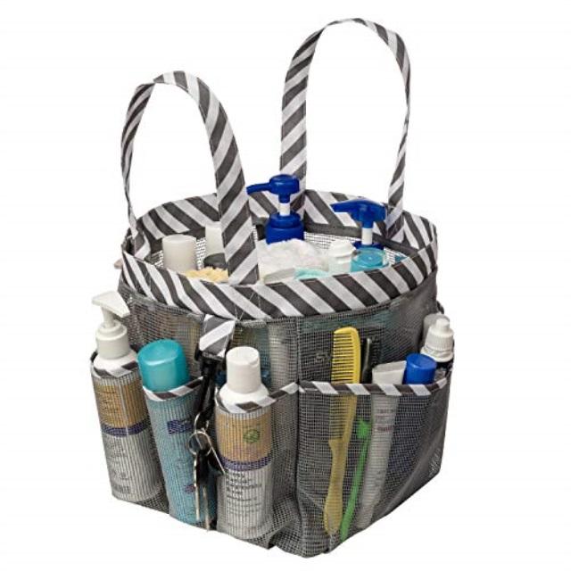 Blitzlabs Shower Caddy Mesh Tote Waterproof Portable Dry Shower Bag